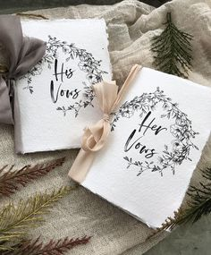 PLEASE READ CAREFULLY BEFORE ORDERING ---------------------------------------------------------------- Beautiful Handmade Paper Wedding Stationery, FULLY CUSTOMIZABLE for your special day! Each Vow Booklets are 2 sheets of 5x7 deckled edge paper, folded in half. There are 6 half