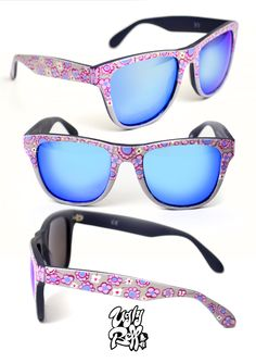 Κάθε ζευγάρι γυαλιών ηλίου Uglybell είναι μοναδικό, ζωγραφισμένο στο χέρι, με άριστης ποιότητας υλικά και έμφαση στην λεπτομέρεια. Wayfarer, Eyewear, Mirrored Sunglasses, Hand Painted, Style, Fashion, Swag, Moda, Eyeglasses
