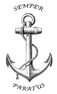 Semper Paratus Tattoo Anchor Coast Guard