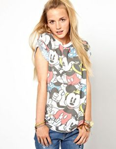 Primark Mickey Mouse Roll Sleeve T-Shirt - Doesn't ship to Aus =0(