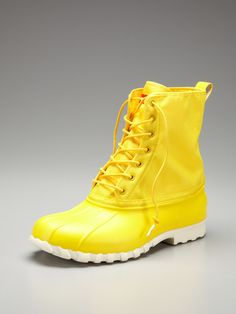 I was told that these boots were cool. The yellow's a bit much for me - what do all of you think? ($49)