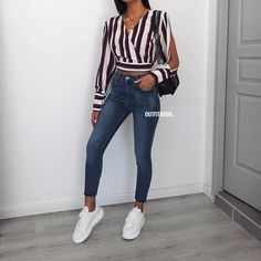 outfits ideas to 2019 casual fashion springs summer outfits and womens fashion trendy outfits Stylish Summer Outfits, Spring Outfits, Casual Outfits, Mode Outfits, Fashion Outfits, Womens Fashion, Denim Outfit, College Outfits, Everyday Outfits