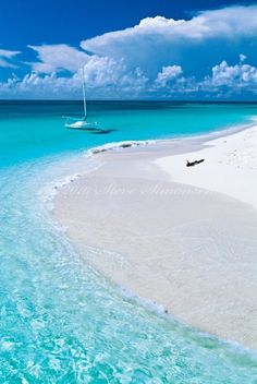 The Virgin Islands, look at that beautiful blue water!