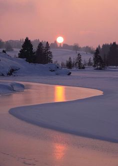 Winter Sunrise on Lake Cadillac Print by Terri Gostola. Winter Sunrise on Lake Beautiful Sunset, Beautiful World, Beautiful Places, Beautiful Scenery, Beautiful Winter Scenes, Beautiful Beautiful, Landscape Photography, Nature Photography, Photography Magazine