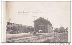 RP: Train at Union Railroad Station , HARTFORD , Michigan , 00-10s - Delcampe.com
