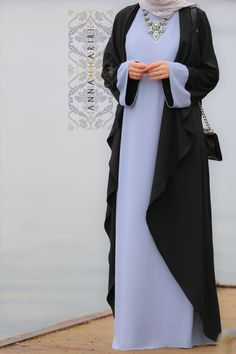 Hijab Fashion Dubai Style Abaya light abaya Eid Outfit Idea Hijab Plus Modest Wear, Modest Dresses, Modest Outfits, Floral Dresses, Maxi Dresses, Islamic Fashion, Muslim Fashion, Modest Fashion, Eid Outfits