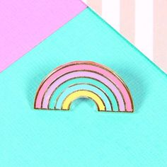Pastel Rainbow Enamel Pin by Punky Pins. Pin featuring a pretty pastel rainbow. FREE UK Delivery on orders over Up your pin game today! Jacket Pins, Pin And Patches, Cute Pins, Rainbow Unicorn, Pretty Pastel, Pin Badges, Crochet, Diy And Crafts, Lifestyle Fashion