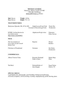 Sample Of Acting Resume Template  HttpWwwResumecareerInfo