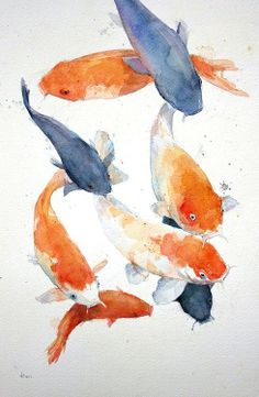 Love this painting ♡ fish koi in 2019 watercolor art, koi art, watercolor. Watercolor Fish, Watercolor Paintings, Japanese Watercolor, Paintings Of Fish, Animal Watercolour, Mermaid Paintings, Watercolor Tattoo, Art And Illustration, Illustrations