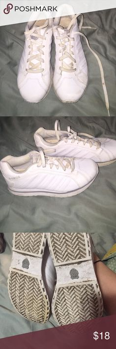 K Swiss cheer shoes all white tennie sneaker White sneakers cheer or gym. Cute. Washed up would look brand new. Worn for a week at camp. Size 8. Halloween cheerleader or hooters girl 🍀 K-Swiss Shoes Sneakers