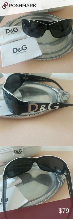 Dolce & Gabbana D&G 3009 Sunglasses Authentic NIB Dolce & Gabbana D&g 3009 Black & White Rectangle Wrap Frames. Dolce & Gabbana Accessories Sunglasses
