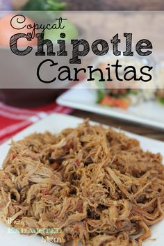 Do you love Chipotle Mexican Grill? Try this Copycat Chipotle Carnitas recipe. It's perfect for a busy night!