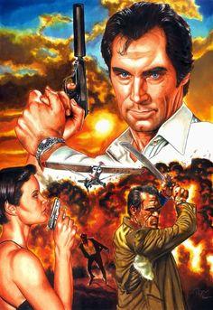 Licence To Kill by Patricio Carbajal James Bond Books, James Bond Movie Posters, James Bond Movies, Aston Martin, Love Movie, Movie Tv, Estilo James Bond, Daniel Craig James Bond, Licence To Kill