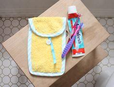 Porta escova de dente e creme dental