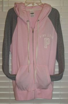 Victorias Secret PINK Perfect Zip Up Hoodie Size Large