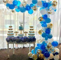 Decoração em azul. Fonte: página inspire festas facebook