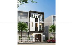 Mẫu thiết kế nhà phố 5,5m x 5 tầng House Outer Design, Home Projects, House Plans, Mansions, House Styles, Home Decor, Houses, Buildings, Decoration Home