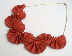 Origami necklaces