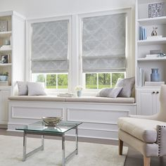 Shop for Damask Room Darkening Roman Shade. Get free delivery On EVERYTHING* Overstock - Your Online Home Decor Outlet Store! Get in rewards with Club O! Bed Bath & Beyond, Room Darkening Shades, Cordless Roman Shades, Silver Room, Bedroom Windows, Window Seats Bedroom, Bedroom Window Treatments, Modern Window Seat, Small Window Treatments