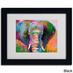 Richard Wallich 'Elephant 2' Framed Matted Art