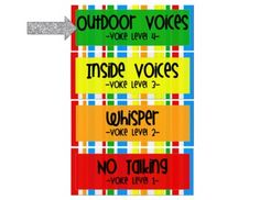 clothespin voice level chart by Mrs Jessica Ann Stanford of MrsStanfordsClass
