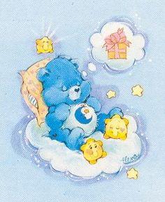 Care Bears: Bedtime Bear Having Sweet Dreams Childhood Toys, Childhood Memories, Grumpy Care Bear, Care Bear Tattoos, Care Bears Vintage, Care Bear Party, Good Night Greetings, Bear Theme, Bear Illustration