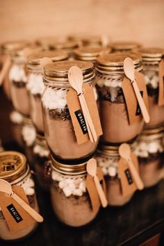 15 Ideas For Diy Wedding Favors Fall Guest Gifts Wedding Gifts For Guests, Rustic Wedding Favors, Unique Wedding Favors, Winter Wedding Favors, Mason Jar Wedding Favors, Wedding Ideas, Christmas Wedding Favors, Wedding Invitations, Homemade Wedding Favors