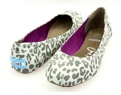 Toms ballet flat shoes / Leopard print light