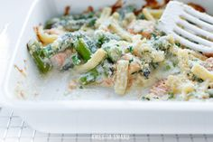Asparagus & Salmon Mac & Cheese
