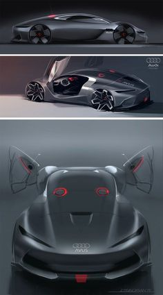 Audi Avus MKII Concept Design Sketches by Liviu Tudoran - Car Body Design