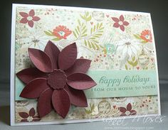 Christmas Card Challenges - flowers