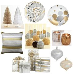 Swanky Swell: Christmas Decorating: Modern Gold AND Silver. Yes please.