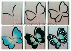 Having short nails is extremely practical. The problem is so many nail art and manicure designs that you'll find online Butterfly Nail Designs, Butterfly Nail Art, Flower Nail Art, Nail Art Designs, Face Painting Designs, Gel Nail Art, Nail Nail, Nail Tutorials, Nail Arts