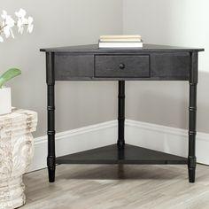 corner foyer table. Safavieh Gomez Black Corner Table (AMH5709B) Foyer R