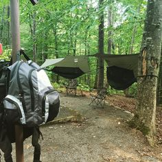 Cherokee National Forest hammock camp. On out way to Canada #camping #hiking #outdoors #tent #outdoor #caravan #campsite #travel #fishing #survival #marmot http://bit.ly/2bBYpfg