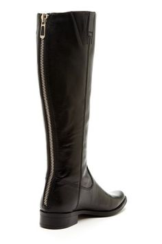 Black boots with back zipper