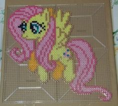 Fluttershy Perler beads by *The-Original-Kopii on deviantART
