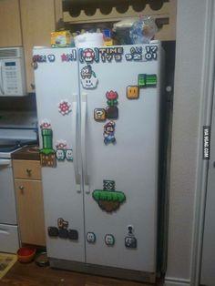 Super Mario World on my fridge