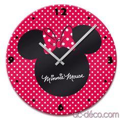 Horloge Disney Minnie La parfaite décoration de la chambre d'enfants ou juste pour tous les fans de Disney ! 30,60 € chez www.ac-deco.com #Minnie #Disney #Decoration