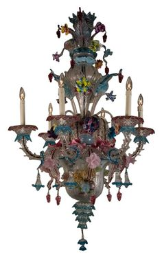 Seguso Venetian Chandelier -