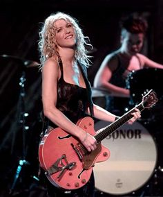 """Courtney Love initially rose to prominence with the Los Angeles indie rock band Hole, which she formed in 1989 with Eric Erlandson. Love also achieved fame with a career in acting, starring in Alex Cox films in the 1980s and in """"The People vs. Larry Flynt"""" in 1996, for which she was nominated for a Golden Globe. She was married to Kurt Cobain, frontman of the grunge band Nirvana. Photo Credit: AP"""