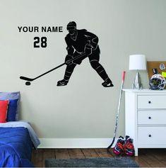 ALL HOCKEY STICKERS Wall Stickers Room, Wall Decals, Hockey Room, Sport Theme, Hockey Gifts, Decorate Your Room, Hockey Players, Ice Hockey, Wall Clocks