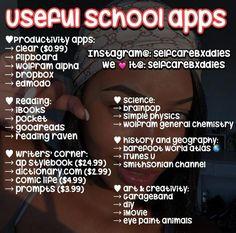 Fσllσw fσr pσppín' pínѕ єvєrчdαч apps for school, high school tips, Middle School Hacks, High School Hacks, High School Life, Life Hacks For School, School Study Tips, Best Apps For School, Girl Life Hacks, High School Makeup, Back To School Glo Up