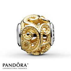 I love my G old and Gold & Silver charms!! Pandora Creativity Charm Sterling Silver/14K Gold