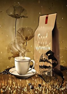 Morning Coffee Images, Good Morning Coffee Gif, Good Morning Sunday Images, Morning Morning, Good Morning Picture, Good Morning Flowers, Good Morning Good Night, Good Morning World, Morning Pictures