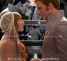 """loving-mellark: """" So that's who Finnick loves, I think. Not his string of fancy lovers in the Capitol. But a poor, mad girl back home. For my lovely snowflake """" Hunger Games Fandom, Hunger Games Humor, Hunger Games Catching Fire, Hunger Games Trilogy, Finnick And Annie, Jenifer Lawrence, Minion Jokes, Movie Couples, Mockingjay"""