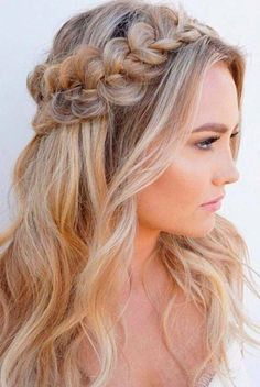 This is one of the cutest half up half down hairstyles for long hair! , This is one of the cutest half up half down hairstyles for long hair! Down Hairstyles For Long Hair, Braided Hairstyles, Wedding Hairstyles, Bridesmaid Hairstyles, Hairstyles 2018, Everyday Hairstyles, Popular Hairstyles, Wedding Updo, Pixie Hairstyles