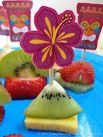 Luau Party Picks    good idea for fruit