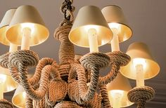 Boat Rope Chandelier, does it get any better than this?