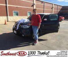 https://flic.kr/p/BzVNfA | Congratulations Gayle on your #Kia #Soul from Don Weintraub at Southwest KIA Rockwall! | deliverymaxx.com/DealerReviews.aspx?DealerCode=TYEE